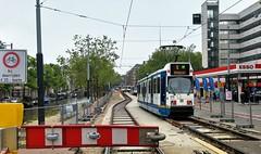 Trapkarrenfestival (Peter ( phonepics only) Eijkman) Tags: amsterdam city gvb trapkar bn tram transport trams tramtracks trolley roadworks wegwerkzaamheden rail rails strassenbahn streetcars nederland netherlands nederlandse noordholland holland