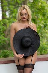 That hat! (piotr_szymanek) Tags: natalia natalias woman young nude outdoor face blonde longhair hat stockings garterbelt green 1k 20f 50f 100f 5k 10k 20k 200f