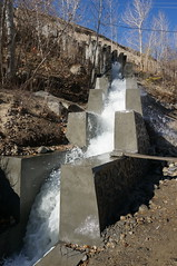 commissioning test for spillway...  Warsaj (energetic reflections) Tags: minihydro spillway