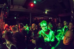LOST IN MUSIC. (Russell Photographic Images) Tags: crowd crowdshots smcpentaxda1017mmf3545ediffisheyezoom thecluny newcastleupontyne music manual gigs pentax fisheye
