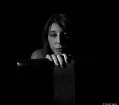 Solitude (BenoitGEETS-Photography) Tags: manon d610 nikon shooting 2470 tamron jeunefemme boudoir noiretblanc nb bn bw soledad solitude