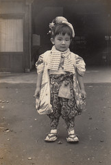 1962 October - Girl at the festival (ShowaDays) Tags: showaperiod 昭和時代 日本 japan 埼玉 saitama 秋祭り 2yearsold