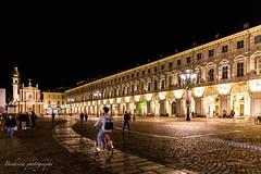 Piazza San Carlo - Torino (Bouhsina Photography) Tags: night light street architecture perspective bouhsina bouhsinaphotography torino italy turin