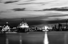 Down River Nightlife (Neil Cornwall) Tags: 2019 april canada detroit detroitriver michigan ontario queenspark sandwich windsor canadasteamshiplines csltadoussac riverfront spring zugisland