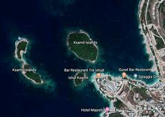 ksamil islands map