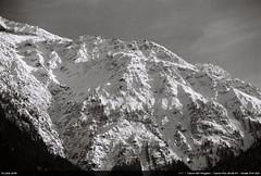 Mont Blanc (Ludtz) Tags: ludtz canon canonae1 canonae1program ae1 film negative analog kodaktrix400 kodak bw noirblanc mountain montagne mountains montagnes alps alpes rhônealpes hautesavoie 74 canonfd canonfdn200 28 neige snow spring printemps