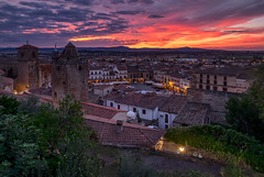 Medieval town Trujillo at sunset. Spain (liseykina) Tags: trujillo spain caceres old medieval mayor church town statue historic village extremadura nobody architecture street view city spanish catholic province europe landmark sunset exterior sunrise red fromabove viewpoint trujillospaincaceresoldmedievalmayorchurchtownstatuehistoricvillageextremaduranobodyarchitecturestreetviewcityspanishcatholicprovinceeuropelandmarksunsetexteriorsunriseredviewfromaboveviewpoint original big stock