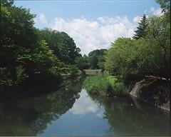 (✞bens▲n) Tags: mamiya 7ii kodak ektacolorgold400 80mm f4 film analogue 6x7 landscape karuizawa nagano japan water reflection