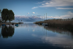 Lake Ohrid Waterway (stevebfotos) Tags: balkans lakeohrid mountains reflections spillway struga strugamunicipality republicofmacedonia