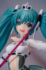 1/7th Scale Racing Miku 2012 ver (GuiltyKnights) Tags: diva miku hatsune toy photography photo photoshoot vocaloid goodsmile company flash a7s 85 28 racing flag race queen sega figurine figure figma pvc 17 scale cars twintail anime girl kawaii macro 28mm 85mm sony