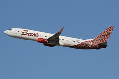 PK-LBO Batik Air Boeing 737-9GP(ER) (johnedmond) Tags: perth ypph westernaustralia batik indonesia boeing b737 b737900 sky australia aircraft aviation aeroplane airplane airliner plane canon eos7d ef100400mmf4556lisiiusm