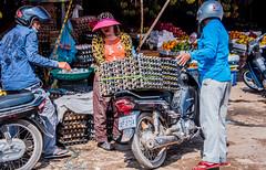 2019 - Cambodia - Sihanoukville - Phsar Leu Market - 15 of 25 (Ted's photos - Returns late November) Tags: 2019 cambodia cropped nikon nikond750 nikonfx tedmcgrath tedsphotos vignetting honda motorcycle eggs eggcartons helmut visor streetscene street hiondadream phsarleumarket phsarleumarketsihanoukville sihanoukville sihanoukvillecambodia uppermarket sihanoukvilleuppermarket trio three