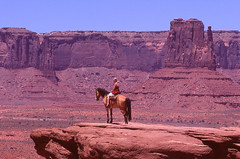 Lady of the West (Past Our Means) Tags: arizona monument valley mountain girl women horse john wayne desert travel wanderlust historical rock rocks sand beautiful film filmisnotdead filmphotography fujifilm fuji fujichrome transparency adventures adventure 200mm summer 2018 hike hiking canon ae1 canonae1 analog analogue analouge park parks no filter nofilter velvia 100 35mm velvia100 indiefilm movie western cowgirl