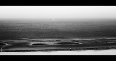 (J.v.V.) Tags: ship minimalism less blackwhite black white fog beautiful beach beacheslandscapes seascape landscape northsea thenetherlands fishing boat alone jvv sonya7iii sonyfe85mmf18