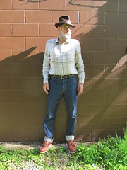 5-22-2019 Today's Clothes (Michael A2012) Tags: this mans spring style vintage fashion stetson whippet fedora hat fur felt banana republic linen saddle king jeans red wing oro russet