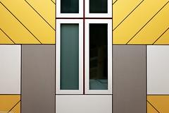 geometric (fhenkemeyer) Tags: pietblom kubus yellow windows abstract buildings cubus architecture netherlands rotterdam