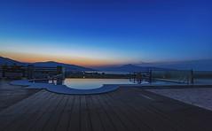 Blue Hour (Ramon Quaedvlieg Photo) Tags: bluehour bluehourphotography greece samos pythagorion mesokampos pool mountains blue landscape sunrise infinitypool 0413 earlymorning water aqua villa bluelight