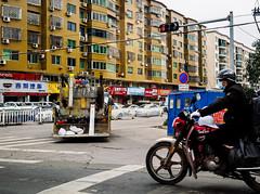 MainStreet.jpg (Klaus Ressmann) Tags: omd em1 china klausressmann ruian winter cityscape crossing flccity highway housing motobike transport yellow omdem1