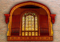 Chapel Organ (DDM Imaging) Tags: architecture building chapel interior 1909 structure stone organ historic wood brick camera sony a7ii a7m2 color colors colour colours university