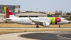 Malta International Airport (Redeemer_Saliba) Tags: tap air portugal airbus a320214 cstnv landing lmml luqa airport rwy 31