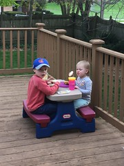 """Paul and Dani Eat on the Deck • <a style=""""font-size:0.8em;"""" href=""""http://www.flickr.com/photos/109120354@N07/47856986151/"""" target=""""_blank"""">View on Flickr</a>"""