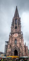 Freiburg im Breisgau - Münster (Cathedral) (WolfgangPichler) Tags: kirche turm gotik romanik freiburg deutschland lumix tz202 panorama