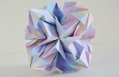 Lauriana Kusudama (Byriah Loper) (Byriah Loper) Tags: origami paperfolding paper polygon polyhedron byriahloper