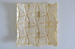 Woven Diamonds Tessellation (Byriah Loper) (Byriah Loper) Tags: origami paperfolding paper polygon polyhedron byriahloper