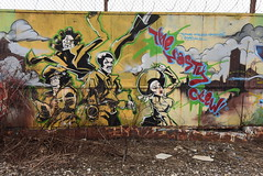 THE NASTY CREW (TheGraffitiHunters) Tags: graffiti graff spray paint street art colorful ny nyc new york city brooklyn trackside nasty crew