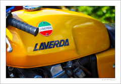 Laverda Jota (G. Postlethwaite esq.) Tags: 1000cc dof derbyshire heage laverdajota unlimitedphotos bokeh classicbikes depthoffield motorbike motorcycle photoborder selectivefocus triple windmill