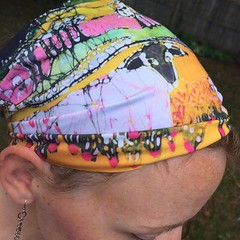 #etsy shop: Headband/Scarf - Sheep on a Sunny Summer Day - Sheep Batik https://etsy.me/30DZLz1. #sheep #batik #headband #stretchy #amityfarmbatik (Amity Farm Batik) Tags: ifttt instagram amityfarmbatik batik farm upstateny