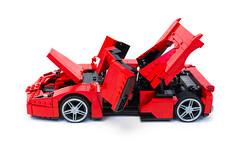 Enzo Ferrari 1:16 (19) (Noah_L) Tags: lego creation moc own ferrari enzo red car sportscar supercar hypercar noahl