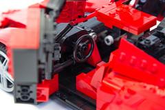 Enzo Ferrari 1:16 (21) (Noah_L) Tags: lego creation moc own ferrari enzo red car sportscar supercar hypercar noahl