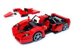 Enzo Ferrari 1:16 (23) (Noah_L) Tags: lego creation moc own ferrari enzo red car sportscar supercar hypercar noahl