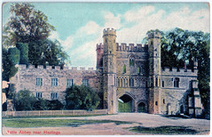 Battle Abbey - Front Façade of Gateway (pepandtim) Tags: postcard old early nostalgia nostalgic battle abbey saxony bendictine 37ffg54