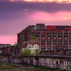 The beauty of the decay2 (Steppenwolf33) Tags: decay ruin factory sunset köpenick steppenwolf33 industrial hall graffiti
