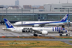 B787-9 JA873A ANA Star Wars colours (shanairpic) Tags: jetairliner passengerjet tokyo haneda ana specialcolours starwars b787 boeing787 dreamliner ja873a