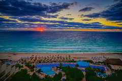 Sunrise over the Caribbean Sea viewed from Live Aqua Resort Cancun Mexico (mbell1975) Tags: cancún quintanaroo mexico sunrise over caribbean sea viewed from live aqua resort cancun the beach hotel along yucatán yucatan water ocean atlantic meer mer surf wave dawn