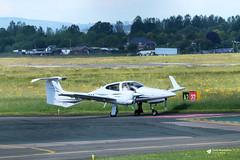 G-SUEM Diamond DA-42 Twin Star, Sue Air, Gloucestershire Airport, Staverton, Gloucestershire (Kev Slade Too) Tags: gsuem diamond da42 twinstar sueair egbj gloucestershireairport staverton gloucestershire