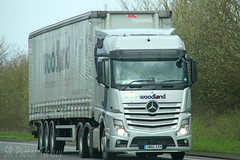 Mercedes Actros Woodland Group GM66 AXN (SR Photos Torksey) Tags: transport truck haulage hgv lorry lgv logistics road commercial vehicle freight traffic mercedes actros woodland group