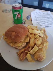 Day 142 (Iain Purdie) Tags: chips sausage roll bread bun chipshop food 2019 happy