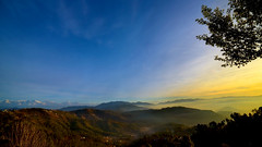 Kasar valley view 16 x 9 (mukundbansal) Tags: kasar binsar uttrakhand india sunrise himalaya east north one frame hd yellow blue mountains 16x9