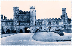 Battle Abbey - Interior Façade of Gateway (pepandtim) Tags: postcard old early nostalgia nostalgic battle abbey sussex gateway 47baf94 shoesmith etheridge hastings glossy real photograph