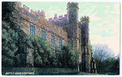 Battle Abbey - Front Façade of Gateway (pepandtim) Tags: postcard old early nostalgia nostalgic ross series battle abbey sussex printed germany 25ffg52
