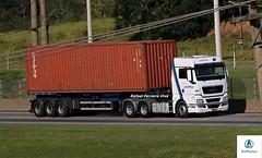 Estrela (RV Photos) Tags: container estrela estrelatransportes trucks truck carretas br116 rodoviapresidentedutra man mantgx