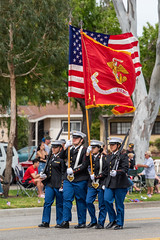 Carson High School Marine Corps JROTC (mark6mauno) Tags: flag honor guard carson high school marine corps jrotc 60thannualtorrancearmedforcesdayparade 60th annual torrance armed forces day parade 2019 nikkor 70200mmf28evrfled nikon nikond810 d810