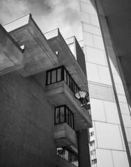 Lindemann Levels (or: Stairway to Heaven) (iMatthew) Tags: boston ma paulrudolph brutalism brutalistarchitecture architecture bw blackandwhite governmentcenter westend monochrome monochromatic olympuspenf penf