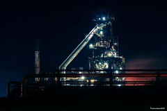 Port Talbot steel works (technodean2000) Tags: port talbot steel works south wales uk night sky line panorama lightroom outdoor city architecture skyline water waterfront dusk building ©technodean2000 lr ps photoshop nik collection nikon technodean2000 flickr photographer tata road