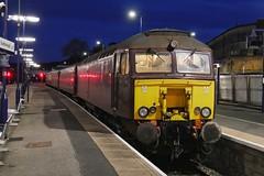 Back from Bardland (JohnGreyTurner) Tags: br rail uk railway train transport engine locomotive scarborough yorkshire 57 class57 bodysnatcher 47 class47 duff wcrc charter railtour