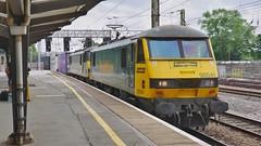 Preston Skodas (JohnGreyTurner) Tags: br rail uk railway train transport engine locomotive preston lancashire fl freightliner 90 class90 skoda electric